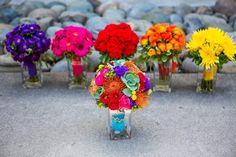 this is the perfect inspiration. fiesta colors & gerber daisies are a must.