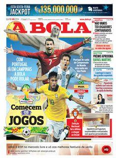 O primeiro dia de Copa do Mundo do Brasil nas capas dos jornais estrangeiros | Blog Pombo Sem Asa | Globoesporte.com