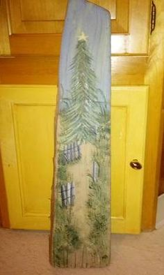 Hand-painted driftwood