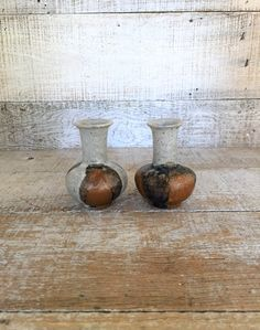 Vase 2 Pottery Vases A Pair of Small Ceramic Flower Vases Mid Century Vases Studio Pottery Flower Vase Bud Vase Wheel Thrown Cottage Chic by TheDustyOldShack on Etsy