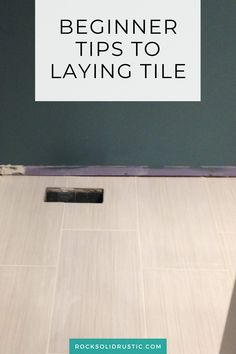 Tips and tricks for beginngers to laying down tile. A DIY bathroom remodel doesn't have to be hard, as long as you take your time and pay attention to detail.