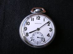 Hamilton 2974B military watch with hack mechanism