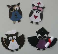Different owls using Stampin Up Owl Punch by melody