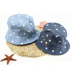b1e3fabfa68da Soft Cotton Summer Baby Sun Hat Infant Boys Girls Bucket Hat Denim Cotton  Toddler Kids Tractor