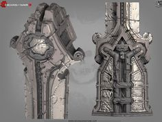 some cool architectural details from Gears of War 3. Zbrush work :)
