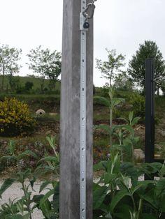 Poteau bois Azobé 93x93x3000 mm pour voile d'ombrage ou pergola