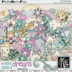 Once Upon a Dream Elements :: Coordinates with the entire Once Upon A Dream Digital Scrapbooking Collection by Kathryn Estry @ PickleberryPop (A Feb 2017 Pickle Barrel Collection) $4.99