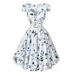 Audrey Hepburn Summer Floral Print Dress