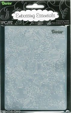 Cork Embossing Folder Darice A2 compatinle most machines 14.5cm x 10.5cm NEW