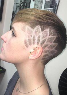 54 Badass Undercut Hair Tattoos für Frauen in der Liebe mit Hair Art Undercut Pixie Haircut, Undercut Tattoos, Undercut Women, Haircut Men, Side Hairstyles, Fringe Hairstyles, Undercut Hairstyles, Summer Hairstyles, Haare Tattoo Designs