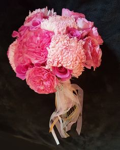Pink Garden Rose, Rose & Mum Brides Bouquet