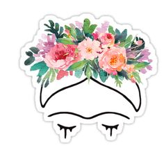"""Je peins des fleurs afin qu'elles ne meurent pas"" – Frida Kahlo • Also buy this artwork on stickers, apparel, phone cases et more."