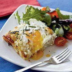 Rösti Casserole with Baked Eggs   MyRecipes.com