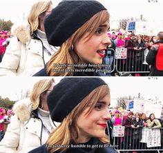 Emma Watson attends the Women's March at Washington D.C on january 21st 2017 part 2