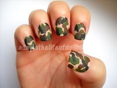 Camo Nails by A Day in the Life of Dollface