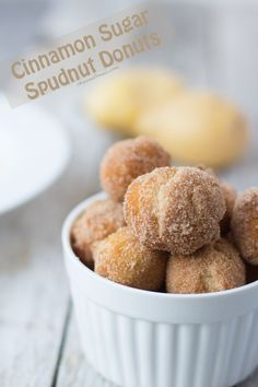 cinnamon sugar spudnuts are so fluffy you wont be able to resist! ohsweetbasil.com