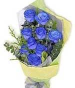 Blue Roses Hand Bouquet LUV027 Hand Bouquet, Blue Roses