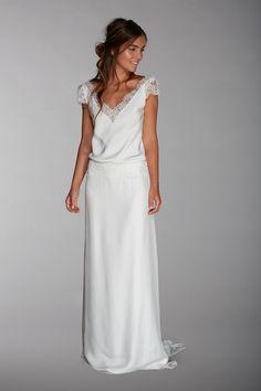 Meredith - Collection 2016 - Robe de mariée vintage bohème - dentelles - dos nu