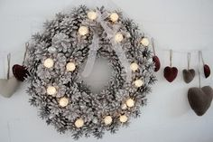 Tiina Wagner uploaded this image to 'Paivakirjakuvat'. See the album on Photobucket. Xmas Crafts, Diy And Crafts, Christmas Diy, Christmas Wreaths, Winter Time, Pine Cones, Pagan, Make It Yourself, Holiday Decor