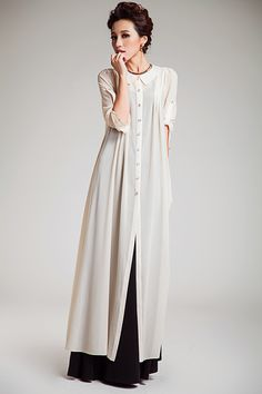 Ivyclothes-new-coat-2014-autumn-baby-doll-collar-chiffon-dress-cape-coat-white-single-breasted-ankle.jpg (750×1125)