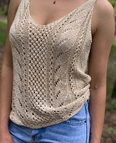 Knitting Stiches, Sweater Knitting Patterns, Crochet Blouse, Knit Crochet, Diy Laine, Summer Knitting, Knit Fashion, Handmade Clothes, Crochet Clothes