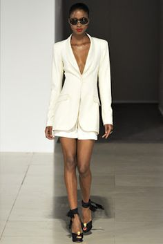 tailleur blanc court temperley london