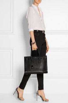 SAINT LAURENT sophisticated Sac De Jour medium leather tote