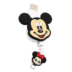 Disney Mickey Telescopic Flexible Foldable Charging Cable Power cord for iphone5/5S/5C/6/6 Plus, iPad Air/Air 2, iPad mini/mini 2/mini 3, iPad4