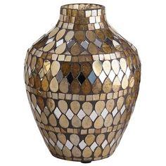 Golden Mosaic Vase - Urn