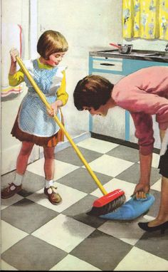 // Vintage Ladybird Books 'Helping at Home', Harry Wingfield illustr. Retro Images, Vintage Pictures, Vintage Images, Pin Up, Vintage Ads, Vintage Posters, Vintage Stuff, Illustrations Vintage, Vintage Housewife