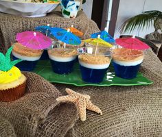 Luau Birthday Party - Virgin Jello Shooters