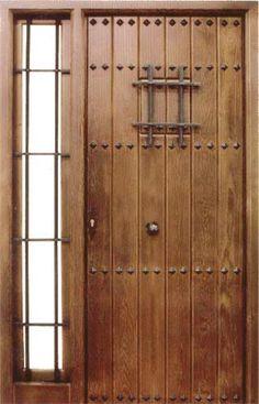 """Ejemplo de puerta exterior estilo """"rústico""""..."""