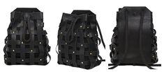 черный кожаный рюкзак 2014