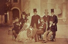 Pedro V of Portugal with brothers and sister and two german Princes von Hohenzollern-Sigmarigen. Portuguese Royal Family, German Royal Family, Royal House, Free Travel, Coat Of Arms, Lisbon, Old Photos, Royalty, History