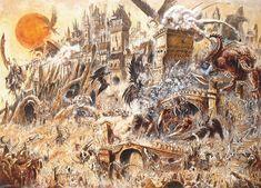 Siège, par John Blanche, in Warhammer Battle, par Games Workshop