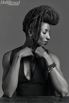 Actress Rutina Wesley in The Hollywood Reporter