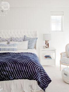 Chic- organic bedroom - 14 blue bedrooms