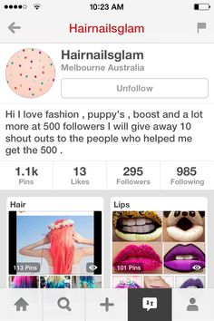 Hey guys! Please follow @Hairnailsglam!!! I'll tag her down below in the comments:)