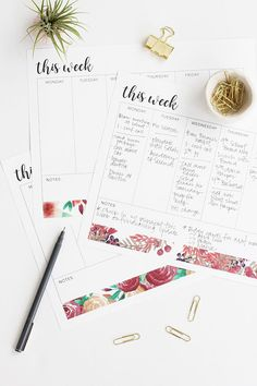 DIY - Free weekly to do list by aliceandlois.com. 3 designs. Download and print.