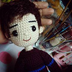 หยุดอยู่ที่เธอไม่ไปไหน พักใจไว้ที่เทอ #amigurumidoll #crochetdoll #handcraft #handmade #myhandmade