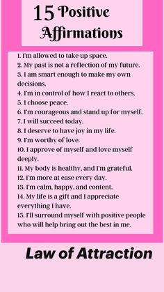 Positive Affirmations Quotes, Affirmation Quotes, Positive Quotes, Manifestation Meditation, Manifestation Journal, Gods Love Quotes, Self Care Bullet Journal, Journal Writing Prompts, Law Of Attraction Affirmations