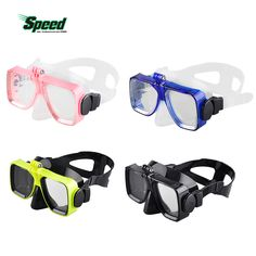 Hot Diving Mask Glasses Soft Liquid Silicon Scuba Diving Mask with Clear Tempered Glass Top Snorkelling Snorkel Mask 4 Color