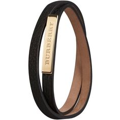 Burberry Grainy Leather Wraparound Bracelet ($155) ❤ liked on Polyvore featuring jewelry, bracelets, accessories, burberry, bijoux, leather bangles, adjustable bangle, wrap jewelry and leather jewelry