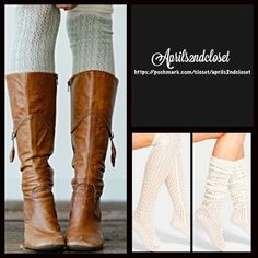 ❗️1-HOUR SALE❗️Over The Knee Crochet Boot Socks NEW WITH TAGS Tall Over The Knee Crochet Boot Socks Openwork Knit  * Super soft fabric w/textured & intricate knit detail  * Over the knee length hits at bottom of thigh w/stay put ribbed cuffs  * Stretch-to-fit style;Tagged one size fits most *  High quality Fabric: Acrylic knit, machine wash Color: Coconut (Ivory Natural)  ***The texture on each pair may vary slightly.  No Trades ✅Offers Considered*/Bundle Discounts✅ *Please use the 'offer'…