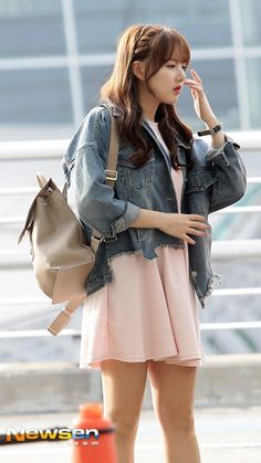 G Friend, Korean Street Fashion, Cute Asian Girls, Bangs, Girlfriends, Leather Skirt, Tulle, Ballet Skirt, Kpop