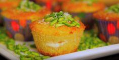 كب كيك البسبوسة بالقشطة من سمر أيوب  Basbousa cupcake with pistachio by Sameer Ayoub