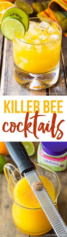 The Famous Killer Bee Cocktails Recipe from Sunshine's Bar in Nevis! #summer via @spicyperspectiv