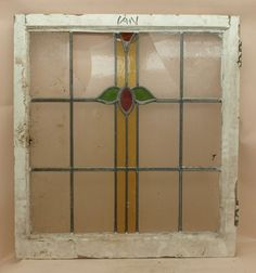 1920/30s Art Deco English Leaded Stained Glass Window
