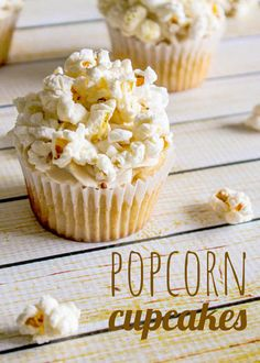 Popcorn Cupcakes!! What?! The popcorn adds crunchy goodness to caramel or coffee flavored topping. Sure are cute!
