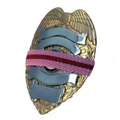 Mourning Band PRL050 Red Line on Pink Cancer Awareness Band